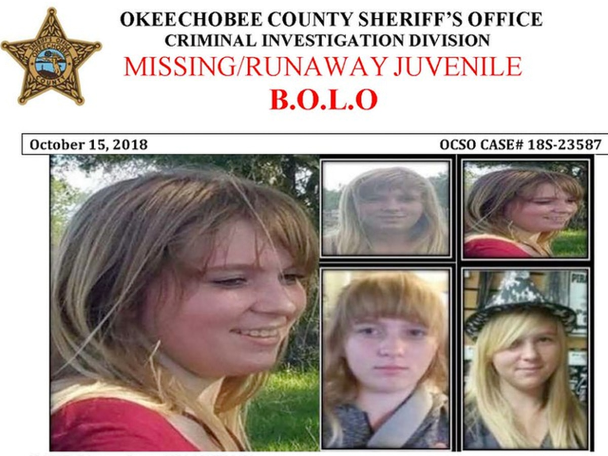 Okeechobee County Sheriff's Office looking for missing/runaway teenager