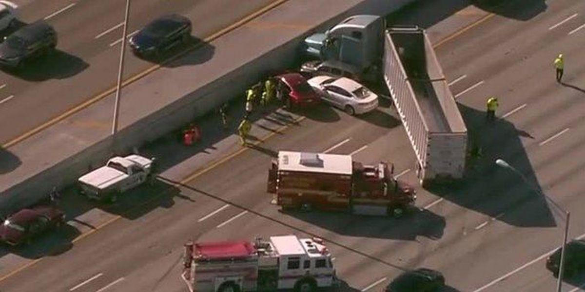 All lanes back open after I-95 SB semi crash