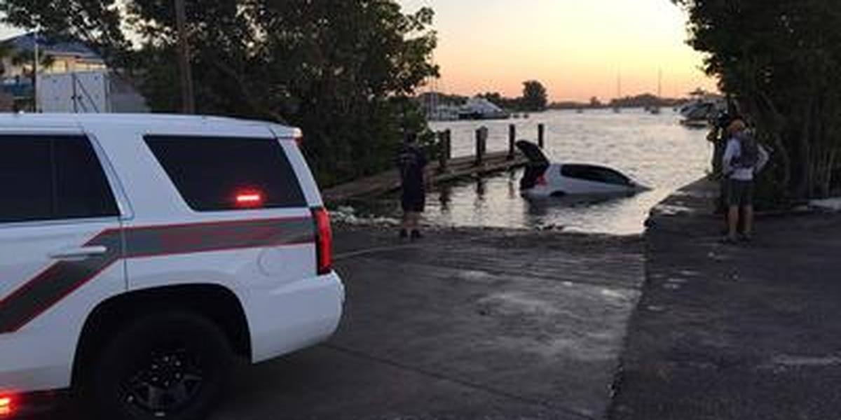 Woman trapped overnight in partially submerged vehicle at Venice boat ramp rescued