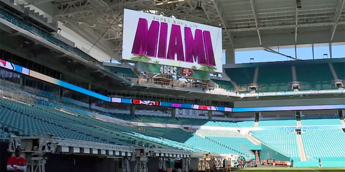 Sneak peek at Super Bowl LIV field preps, food