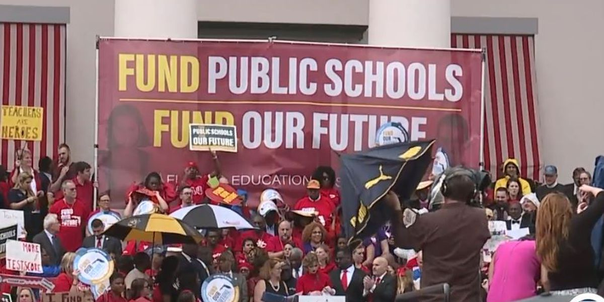 St. Lucie County teachers, supporters rally at Capitol