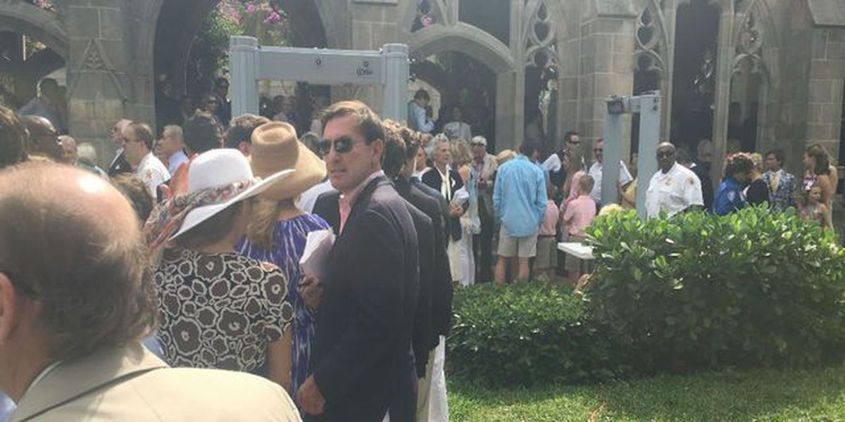 Donald Trump attends Easter service at The Church of Bethesda By The Sea