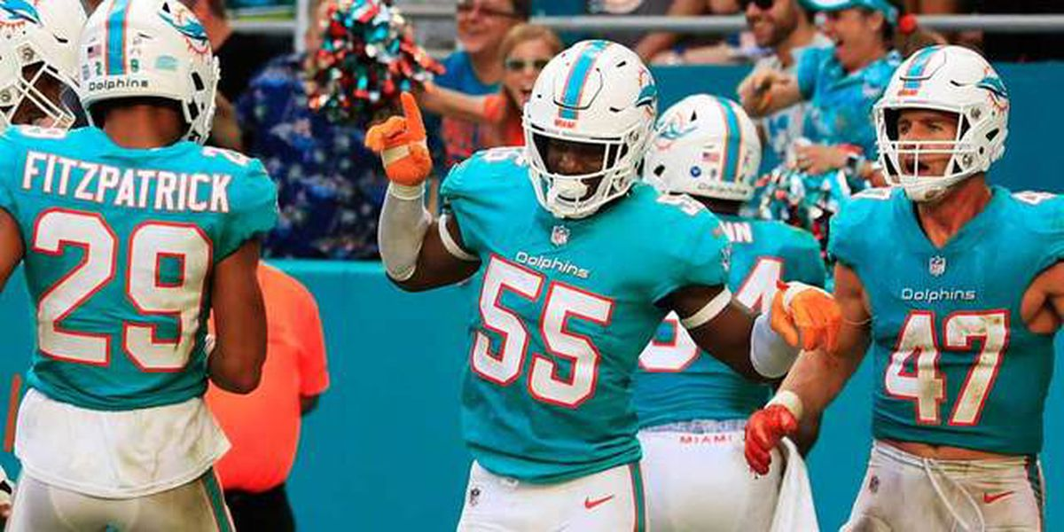 4 interceptions help Dolphins defeat Jets 13-6