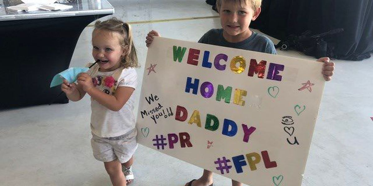 FPL workers return home from Puerto Rico