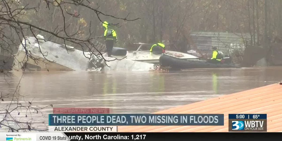 Three dead, two missing and 31 rescued from floodwaters at N.C. campground