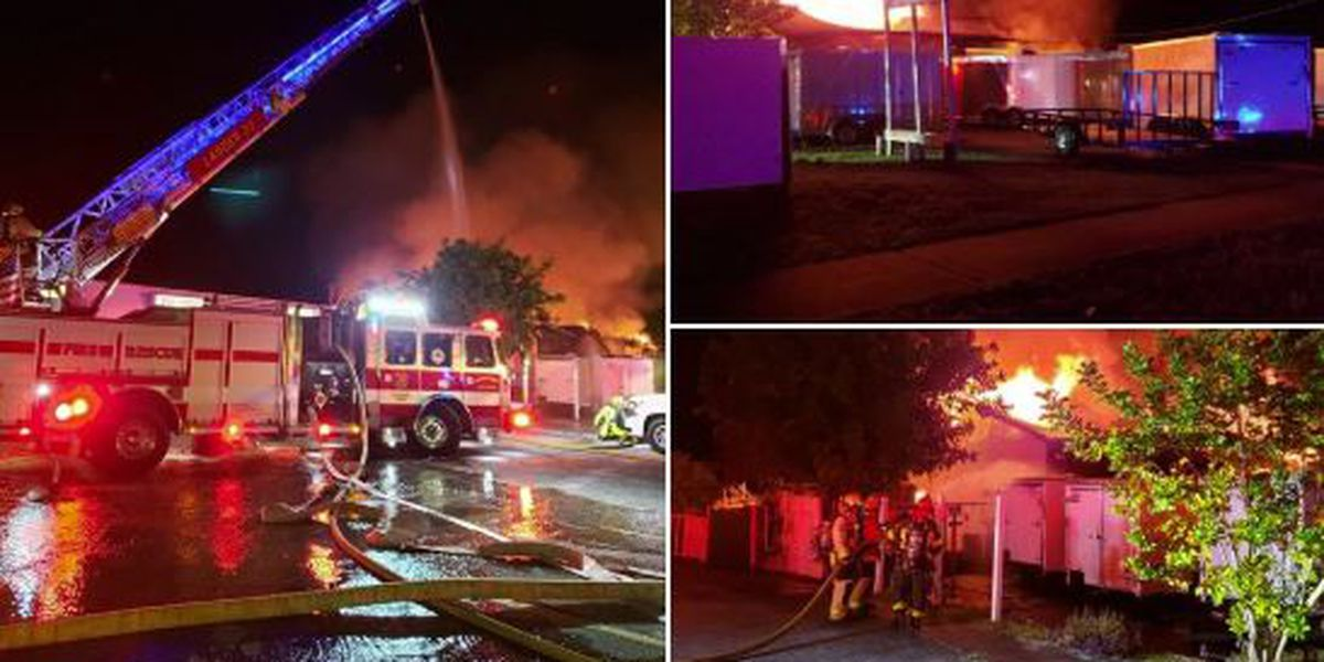 Crews fighting commercial building fire in Hobe Sound