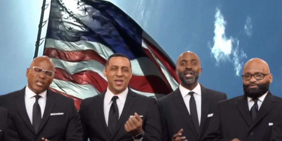 A cappella group puts unique spin on 'Star-Spangled Banner'