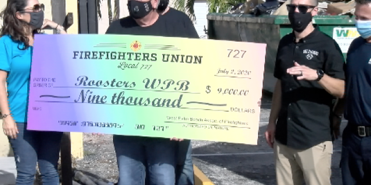 Firefighters donate $9,000 to West Palm Beach gay bar