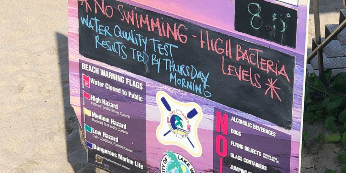 'No swim' advisory issued for Lake Worth Beach