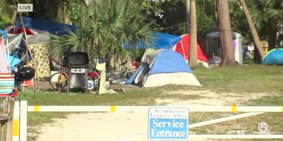 Palm Beach County looking for solution to homeless living in tents in John Prince Park