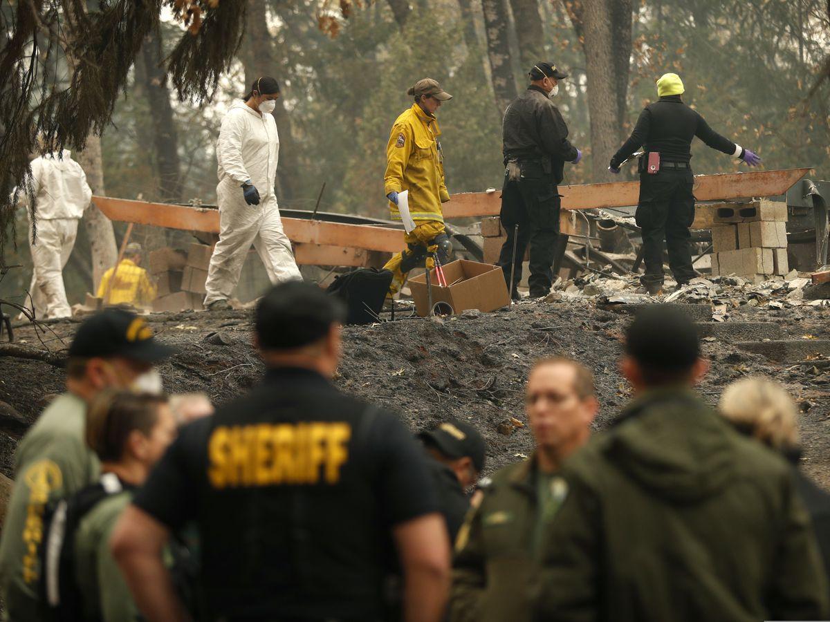 The Latest: Rain predicted for North California fire zone