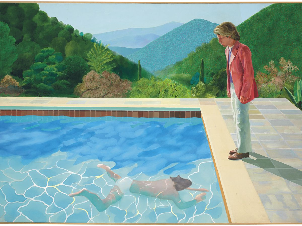 David Hockney painting fetches record $90M at NYC auction