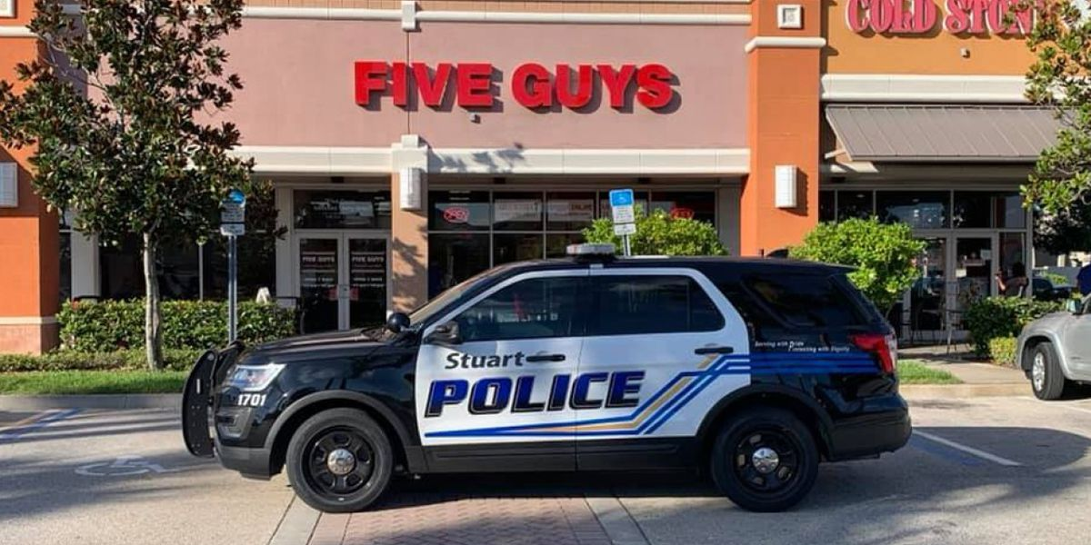 5 guys arrested at Five Guys restaurant in Stuart