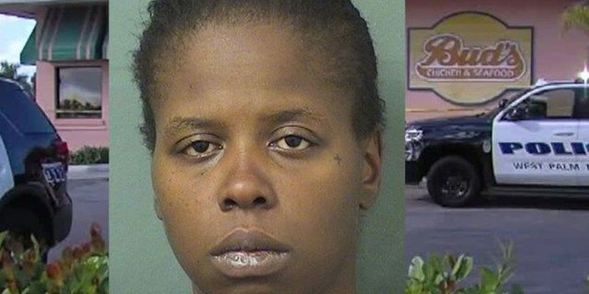 WPB woman arrested after firing shots at officer