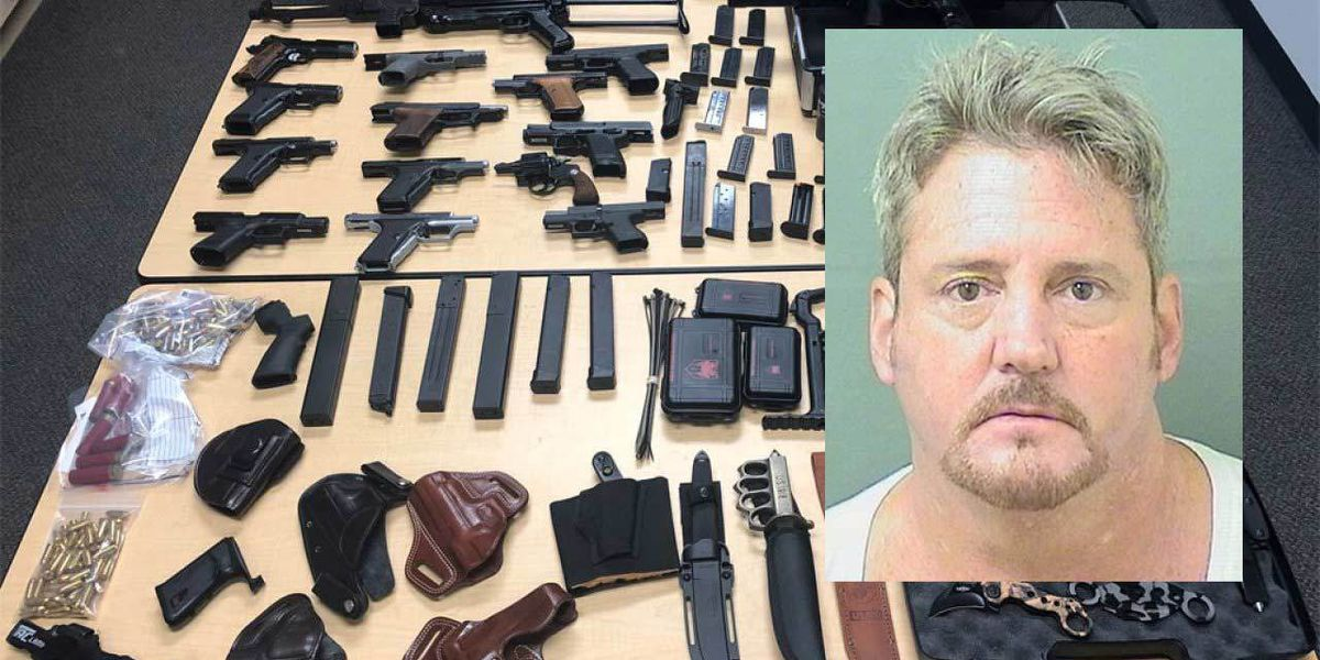 Convicted felon arrested with weapons in Tequesta after barricading himself in a bedroom