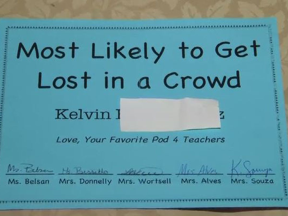 Mother angry after son with autism named 'Most Likely to Get Lost in a Crowd' by teachers