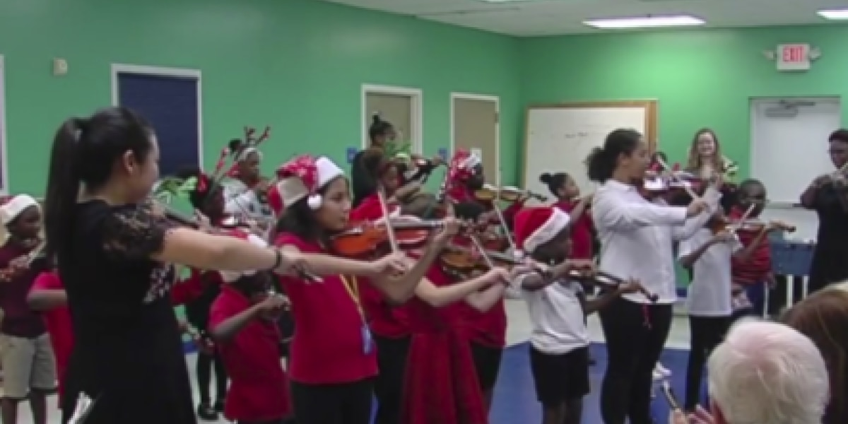 Delray Beach Boys and Girls Club children perform first violin recital