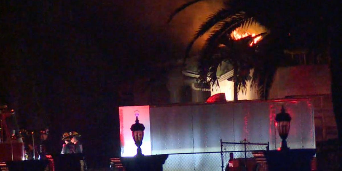 Crews battle overnight house fire near Loxahatchee