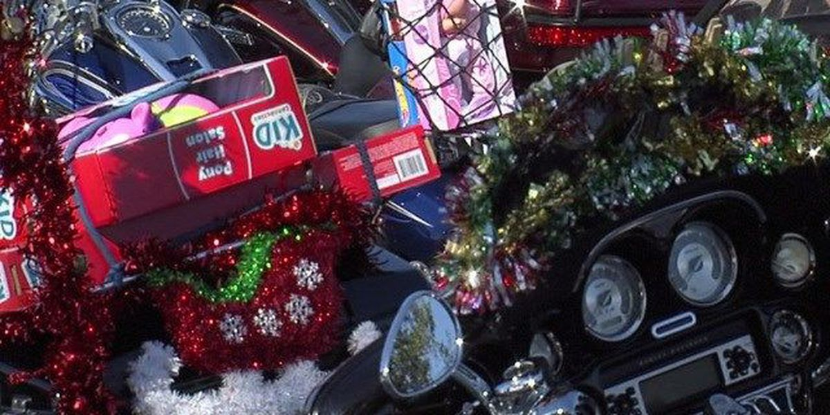 Bikers collect toy donations for needy kids