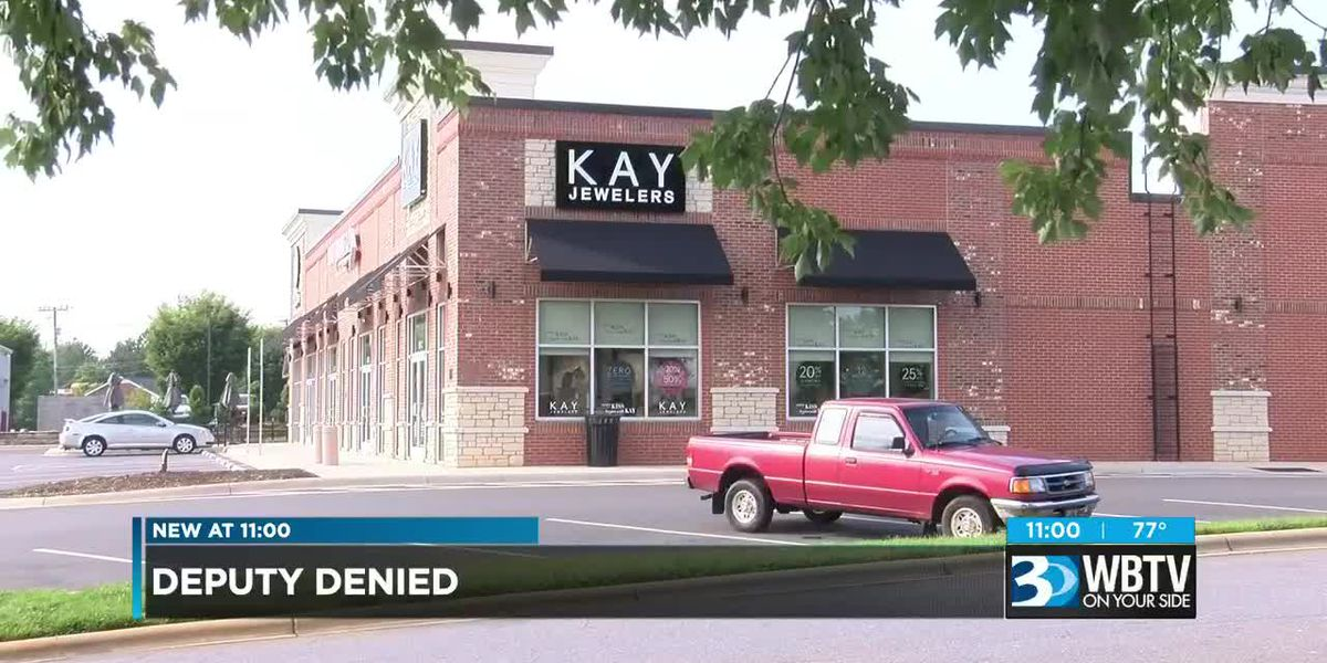Deputy picking up engagement ring turned away from store over service weapon