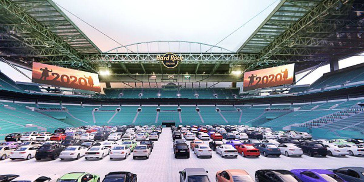 Hard Rock Stadium to become drive-in movie theater