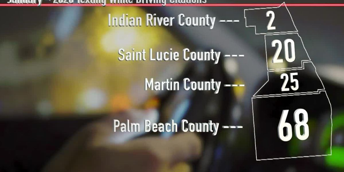 115 drivers cited from Palm Beach County to Treasure Coast