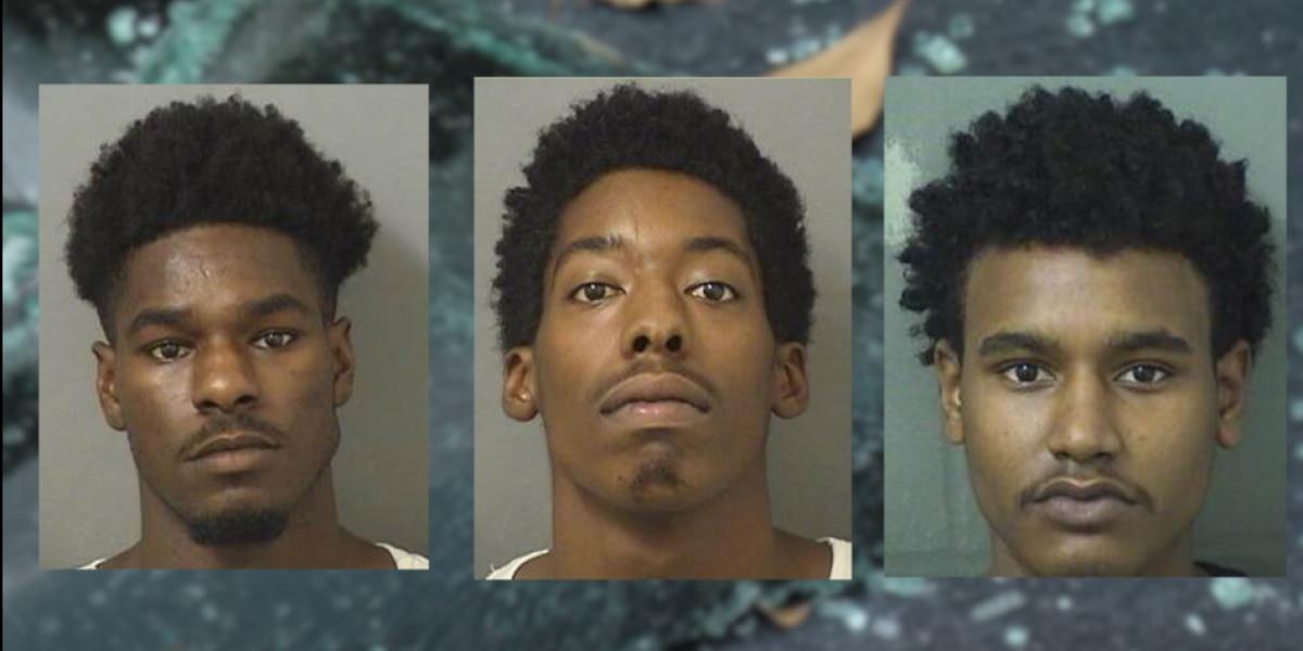 Trio arrested for rash of car break-ins at Lantana-area apartment complex