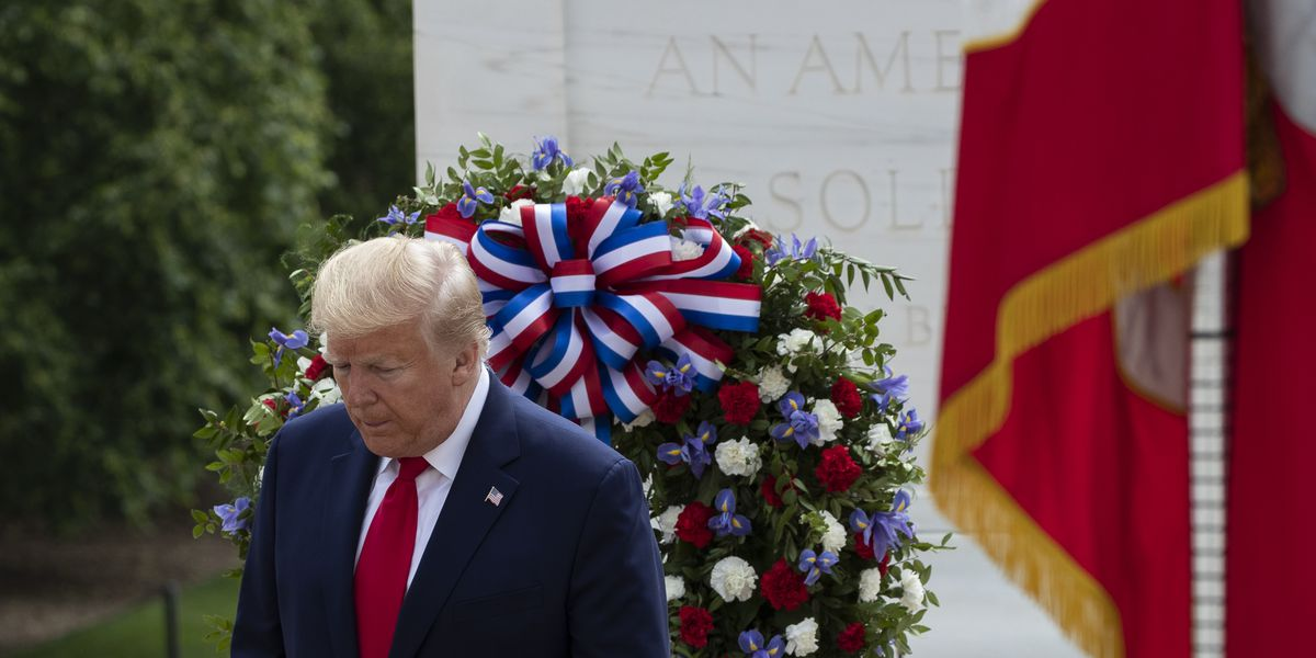 Trump doubles up on Memorial Day events