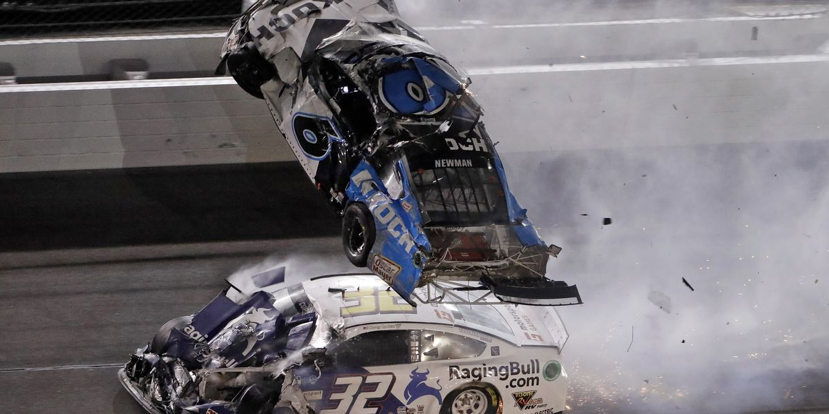 Hamlin wins 3rd Daytona 500; Newman hospitalized after fiery final-lap crash