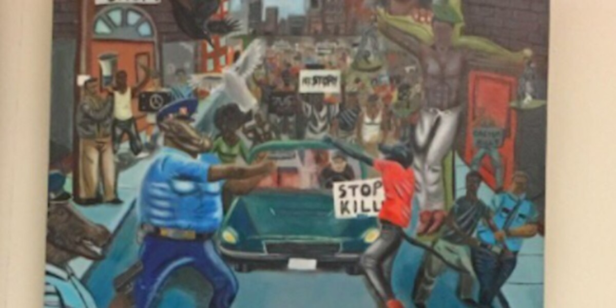 'Pig painting' removed from Capitol display