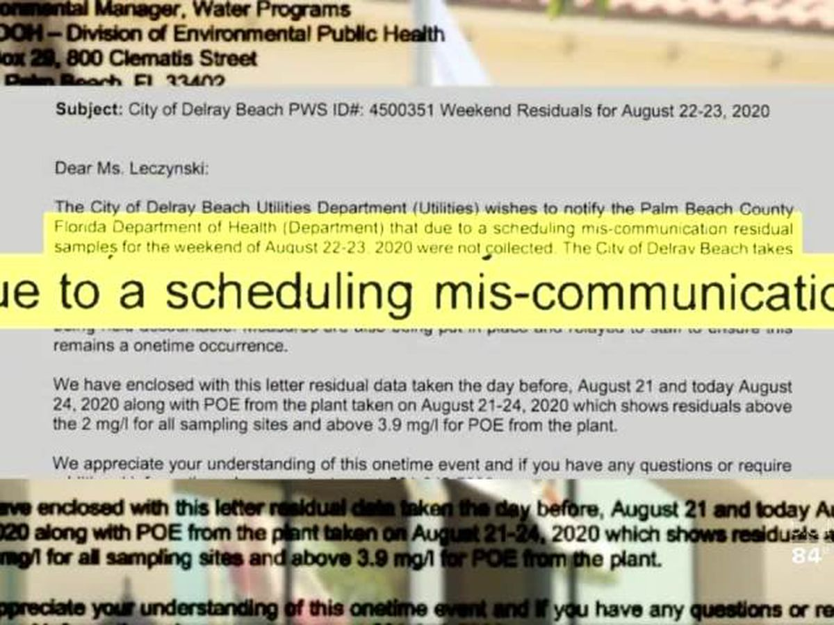 Delray Beach misses collection of water samples, slapped with penalty