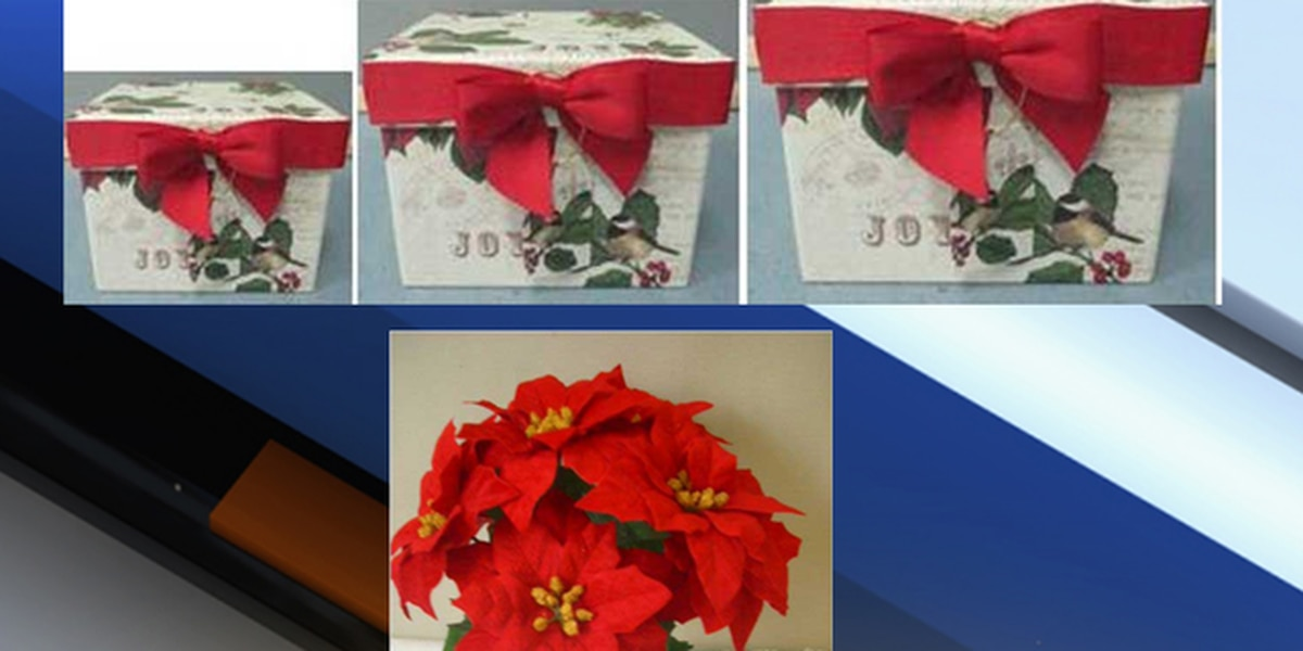 Michaels recalls artificial poinsettias, holiday paper boxes