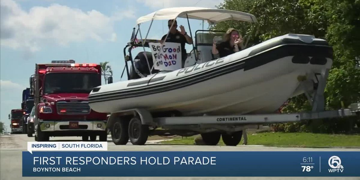 First responders hold parade in Boynton Beach