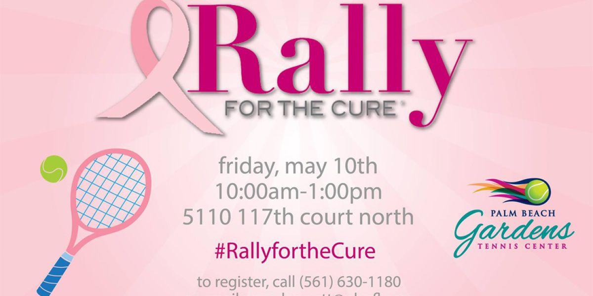Palm Beach Gardens Tennis Center celebrating 11th annual 'Rally for the Cure'