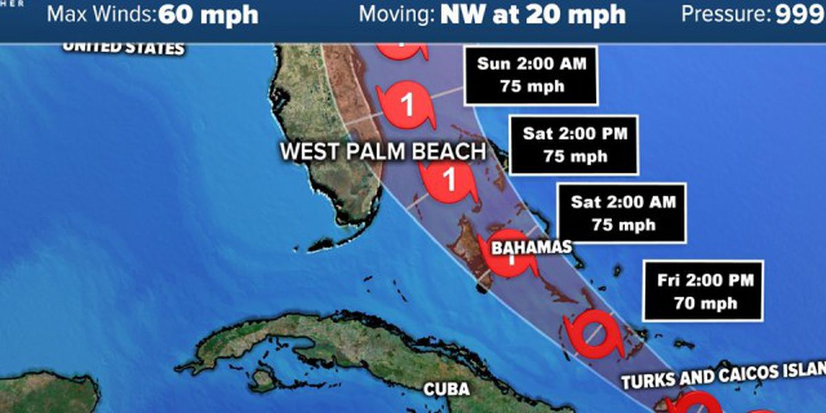 South Florida, Treasure Coast under Tropical Storm Watch