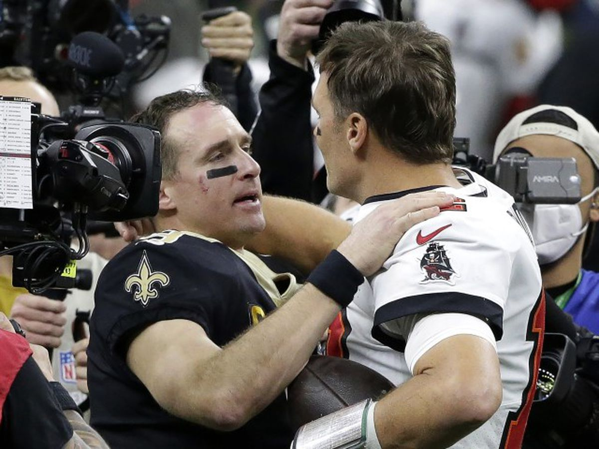 Brady, Buccaneers end playoffs for Saints, Brees