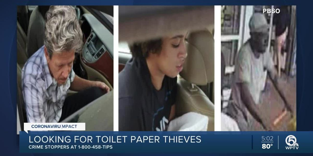 Toilet paper thieves sought in Palm Beach County