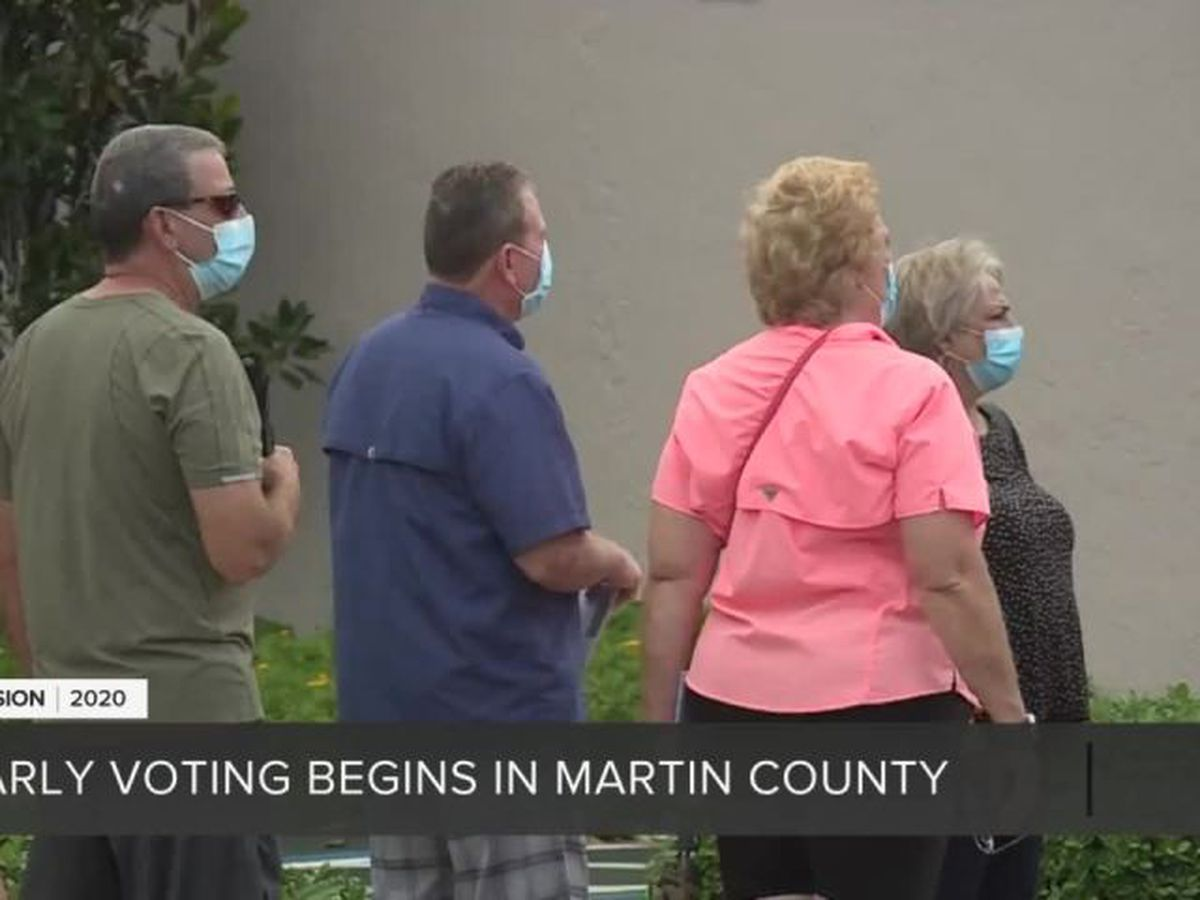 Determined voters dodge rain, cast ballots in Martin County
