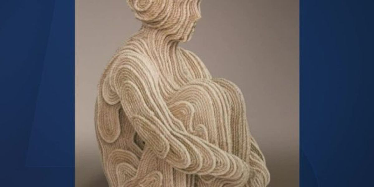 Artist makes sculpture out of rope found in ocean near Palm Beach
