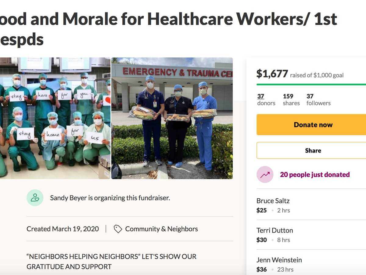 Local moms start GoFundMe page for healthcare workers and 1st responders