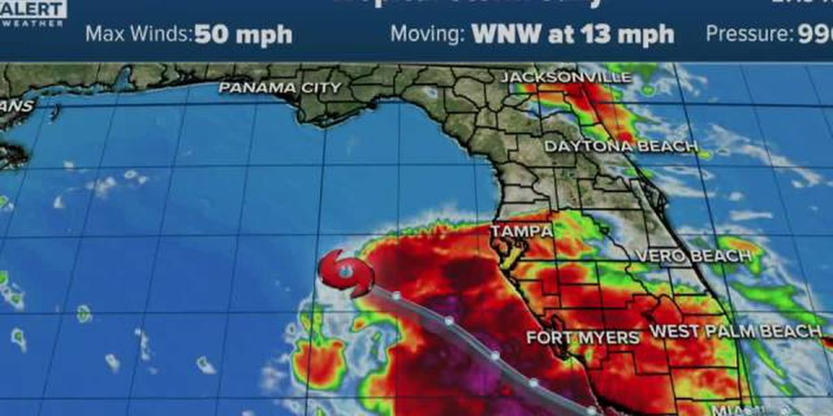 Tropical Storm Sally moves away from Florida