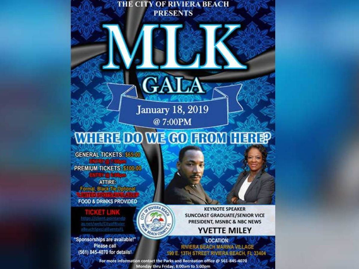 Riviera Beach gala to celebrate the life of MLK