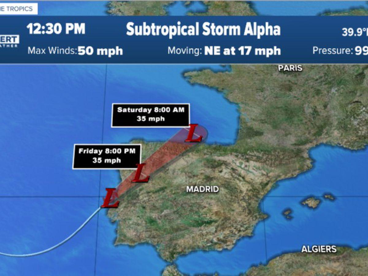Hurricane season officially enters Greek alphabet with Subtropical Storm Alpha