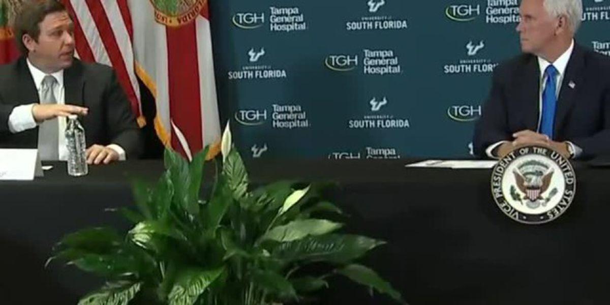 V.P. Pence, Gov. DeSantis discuss coronavirus cases in Florida