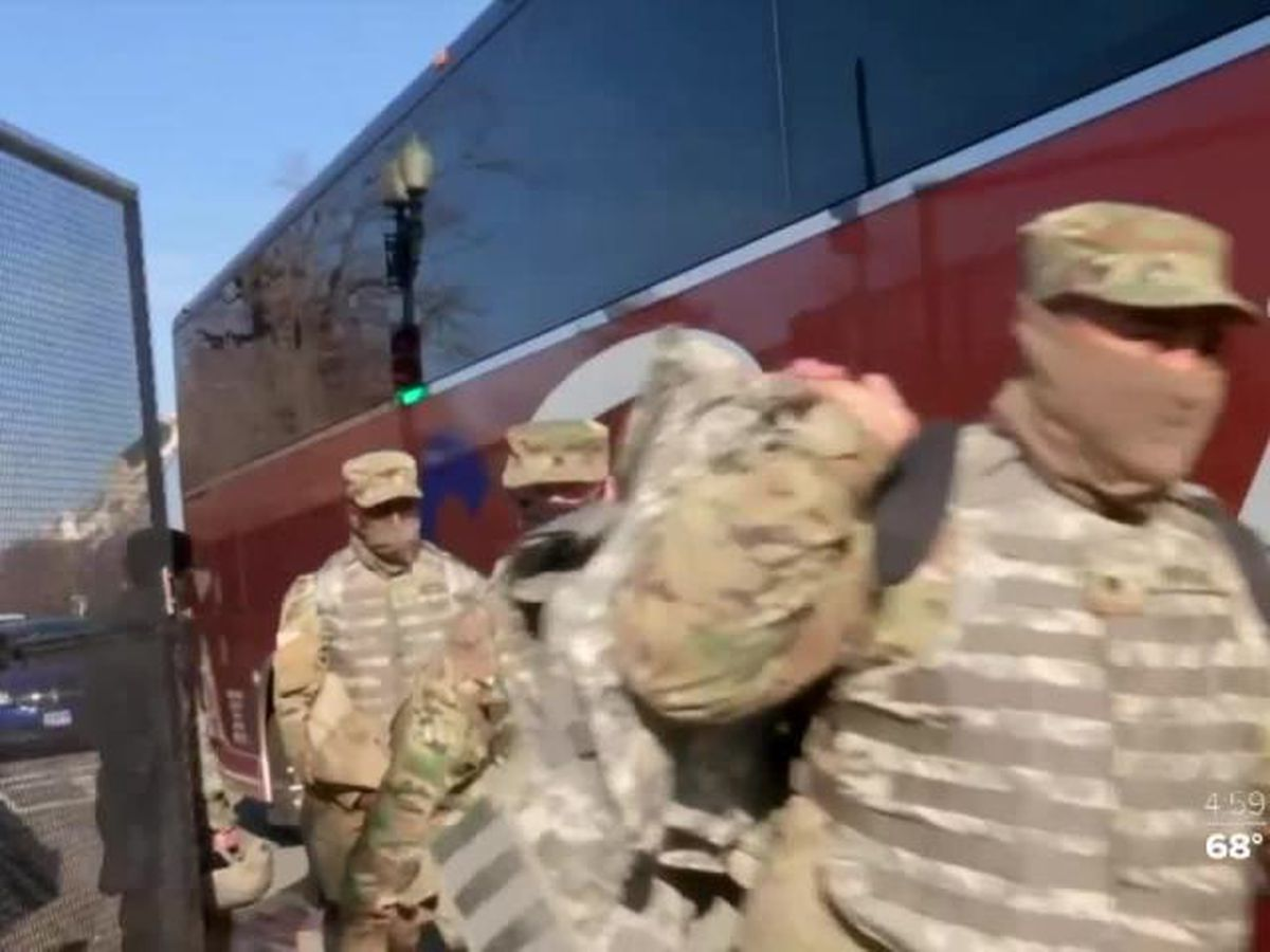 National Guard troops heading to D.C. ahead of the 59th Presidential Inauguration