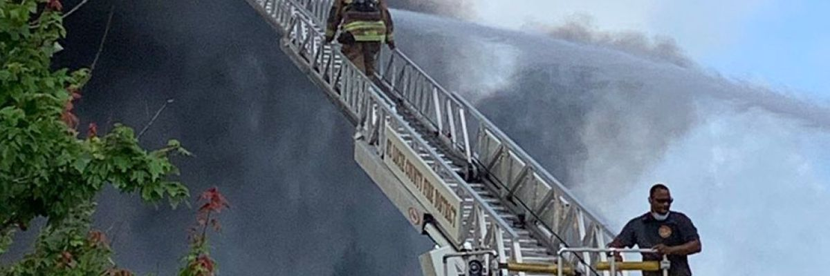 Fire contained at tire recycling plant in St. Lucie County, fire district says