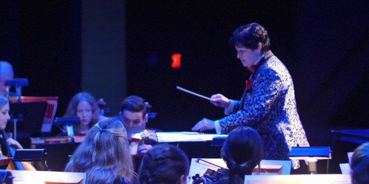 Female conductor shares love for music