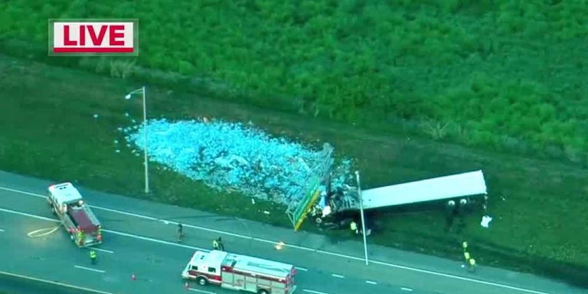 Fatal semi crash on I-95 closes all southbound lanes in St. Lucie Co.