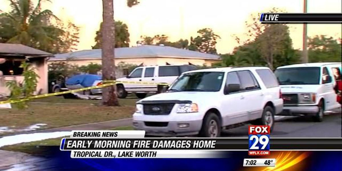 House fire leaves Lake Worth couple homeless