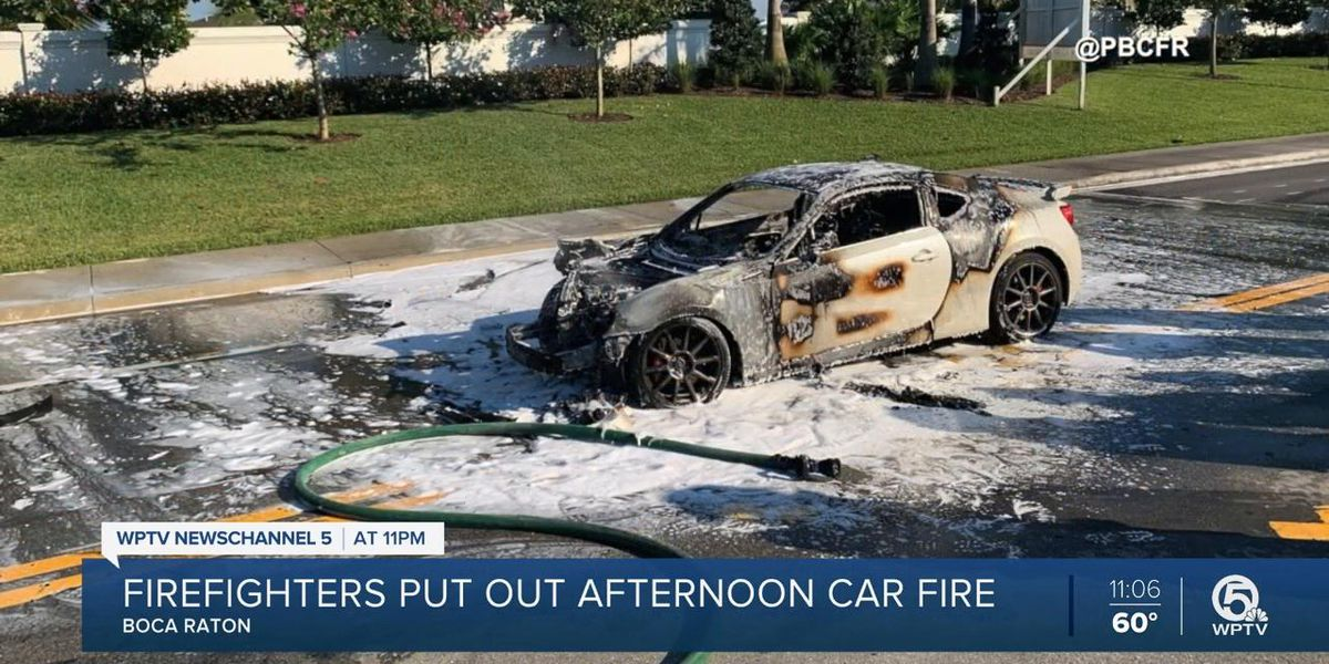 Car fire extinguished in Boca Raton on Saturday